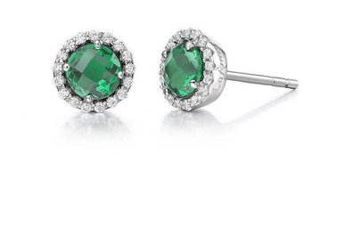 Lafonn Emerald Birthstone Earrings