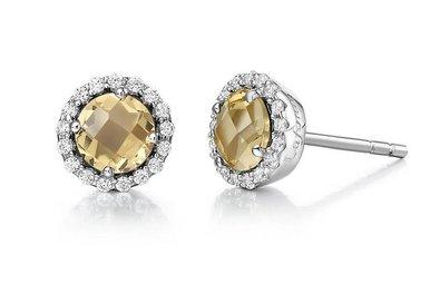 Lafonn Citrine Birthstone Earrings