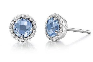 Lafonn Blue Topaz Birthstone Earrings