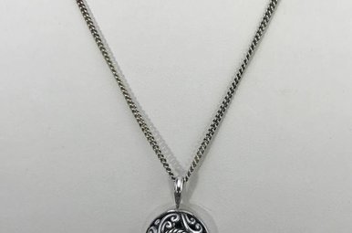Sterling Silver Floral Necklace