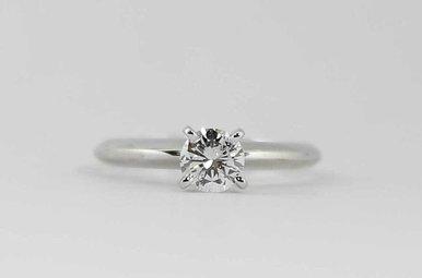 14KW 1/2CTW ROUND BRILLIANT DIAMOND SOLITAIRE ENGAGEMENT RING