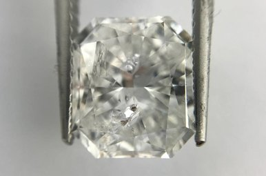 3.67ct F/I1 (EGL USA) Cut Corner Rectangular Modified Brilliant Cut Diamond