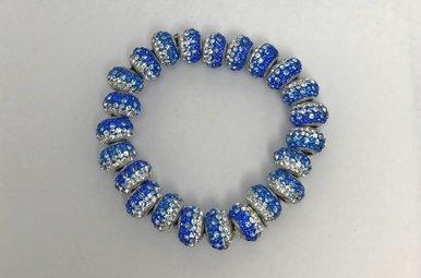 Blue & Silver Swarovski Elements Bracelet