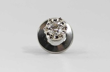 14KW 1/3CT VINTAGE TIE TAC WITH EUROPEAN CUT DIAMOND