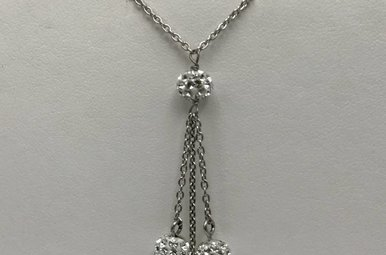 Sterling Silver Sphere Necklace