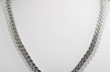 "STAINLESS STEEL 22"" FRANCO CHAIN 5.5MM"