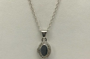 Sterling Silver Small Locket Necklace