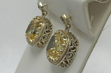 Sterling Silver & Marcasite Earrings