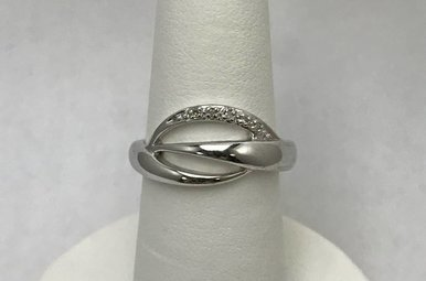 Sterling Silver & Hot Diamonds Ring