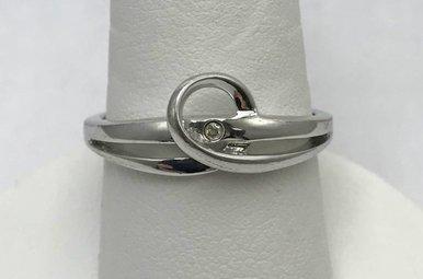 Sterling Silver Hot Diamonds Ring