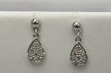 Sterling Silver Hot Dia Dangle Earrings