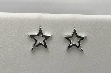 Sterling Silver Star Hot Diamonds Earrings