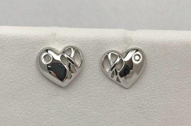 Sterling Silver Hot Diamond Earrings