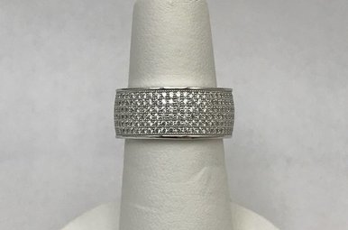 Sterling Silver CZ Band/Ring