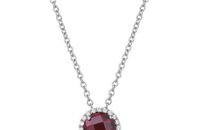 Lafonn 21 Stone Garnet Necklace