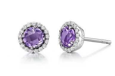 Lafonn 1.26ctw Amethyst Halo Earrings