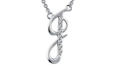 Lafonn 7 Stone J Initial Necklace