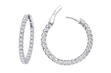 Lafonn 2ctw Sim Diamond Hoop Earrings
