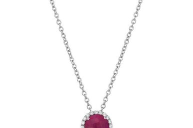 Lafonn 1.05ctw Ruby Halo Necklace