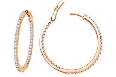 Lafonn 2.16ctw Sim Diamond Rose Hoop Earrings