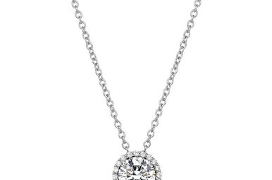Lafonn 1.05ctw Sim Diamond Halo Necklace