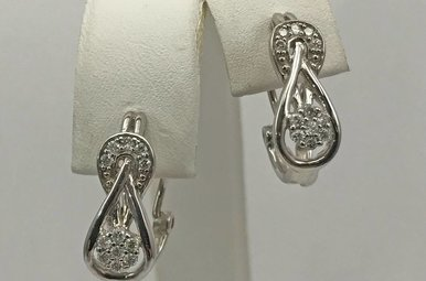 Sterling Silver 1/4ctw Diamond Earrings