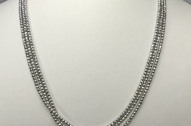 Sterling Silver 3 Strand Necklace