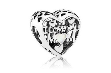 PANDORA Charm, Love for Mother, Silver Enamel