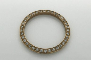 Rolex 18k Yellow Gold 3/4ctw Diamond Bezel