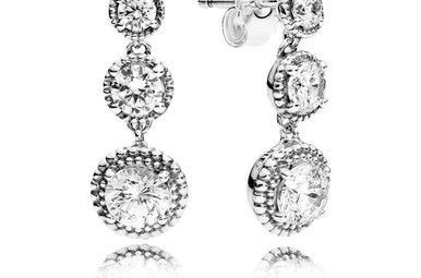 PANDORA Earrings Eternal Elegance, Clear CZ