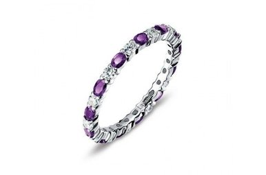 Lafonn Simulated February Birthstone Stackable Band, 26 stones 2.34ctw