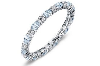 Lafonn Simulated March Birthstone Stackable Band, 26 stones 2.34ctw