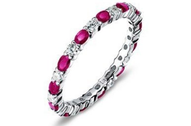 Lafonn Simulated July Birthstone Stackable Band, 26 stones 2.34ctw