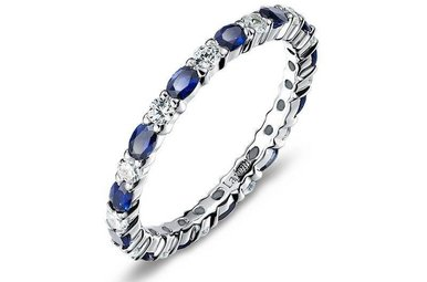Lafonn Simulated September Birthstone Stackable Band, 26 stones 2.34ctw