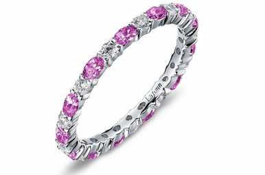 Lafonn Simulated October Birthstone Stackable Band, 26 stones 2.34ctw