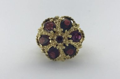 14k Yellow Gold 4.80ctw Garnet Vintage Estate Ring (Size 6)