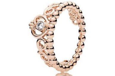 PANDORA Rose Ring, My Princess Tiara, Clear CZ - Size 52