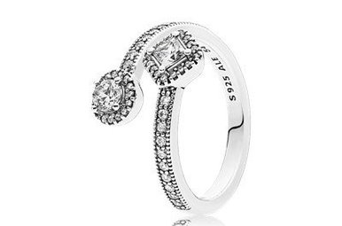 PANDORA Ring Abstract Elegance, Clear CZ - Size 54