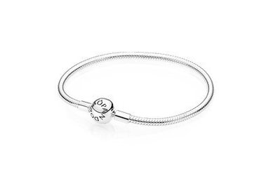 PANDORA Bracelet, Smooth with Round Clasp - 19 cm / 7.5 in