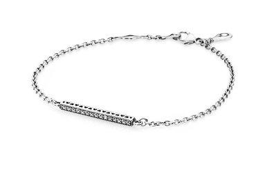 PANDORA Bracelet Hearts Of PANDORA, Clear CZ - 16 cm / 6.3 in