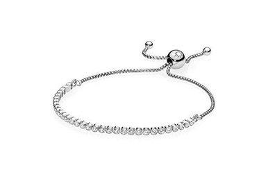 PANDORA Sparkling Strand Bracelet, Clear CZ - 23 cm / 9.1 in