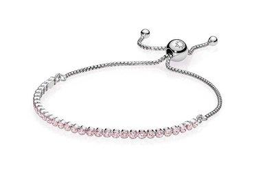 PANDORA Sparkling Strand Bracelet, Pink CZ - 25 cm / 9.8 in