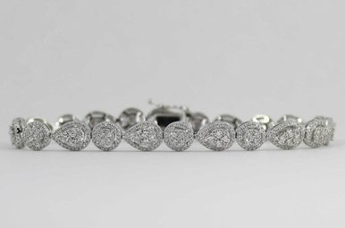 14KW 2.5CTW LADIES ROUND BRILLIANT DIAMOND BRACELET