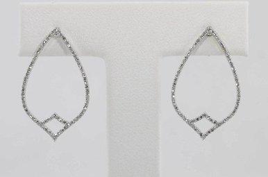14KW .30CTW ROUND BRILLIANT DIAMOND EARRINGS