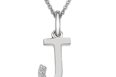 Sterling Silver Hot Diamonds J Initial Pendant