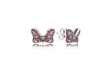 PANDORA Earrings Disney, Minnie's Sparkling Bow