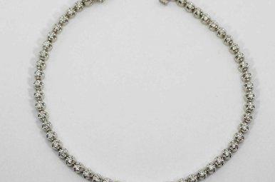 10KW 1.06CTW ROUND BRILLIANT DIAMOND LADIES TENNIS BRACELET