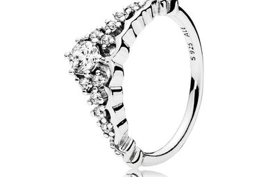 PANDORA Fairytale Tiara Ring, Sterling Silver, Clear CZ - Size 54