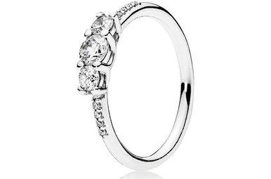 PANDORA Ring, Fairytale Sparkle, Clear CZ - Size 52