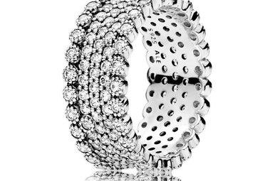PANDORA Ring, Lavish Sparkle, Sterling Silver & Clear CZ - Size 54